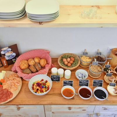 We offer an organic farm breakfast in our new breakfast room