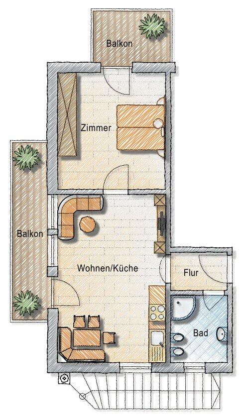 Piantina dell'appartamento