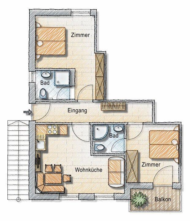 Floor plan Margherite