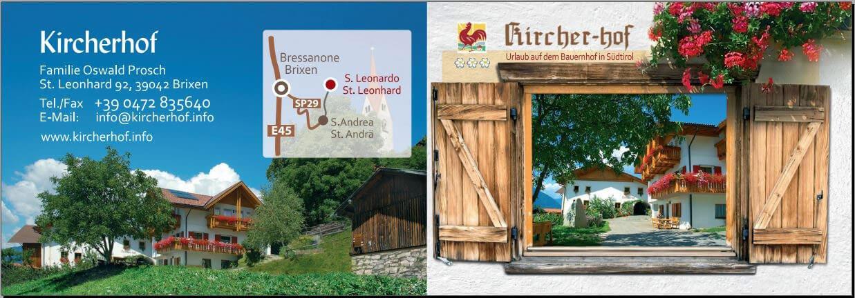Kicherhof Südtirol - Visitenkarte